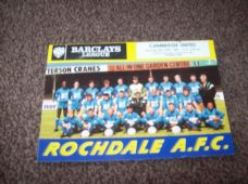 Rochdale v Cambridge United, 1988/89
